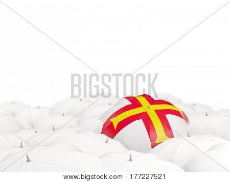 Umbrella With Flag Of Guernsey