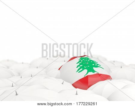 Umbrella With Flag Of Lebanon