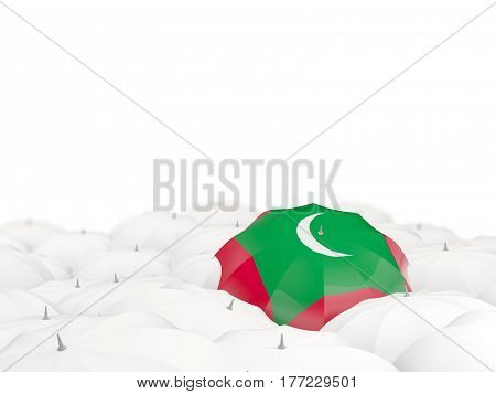 Umbrella With Flag Of Maldives