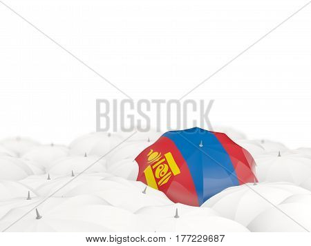 Umbrella With Flag Of Mongolia