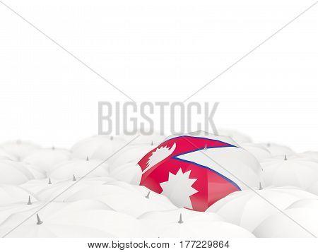 Umbrella With Flag Of Nepal