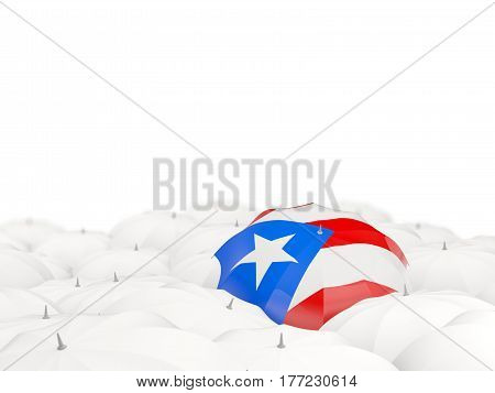 Umbrella With Flag Of Puerto Rico