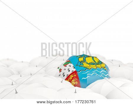 Umbrella With Flag Of Saint Pierre And Miquelon