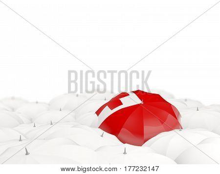 Umbrella With Flag Of Tonga