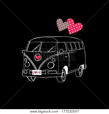 van bus vector freedom retro car adventure