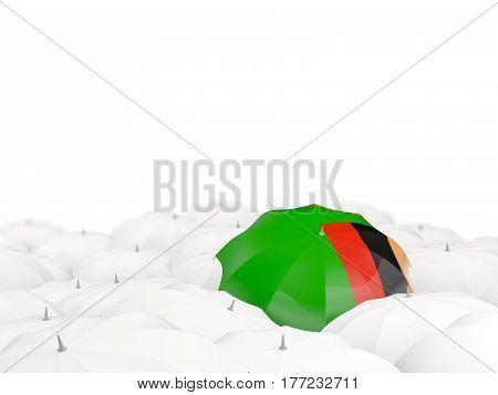 Umbrella With Flag Of Zambia