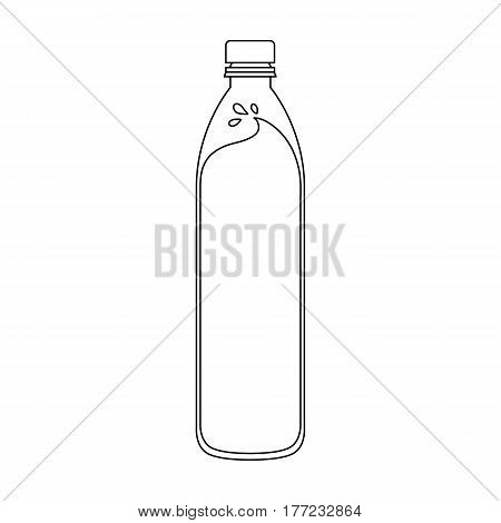 A bottle of water. Water to cool the bicyclist while riding.Cyclist outfit single icon in outline style vector symbol stock web illustration.