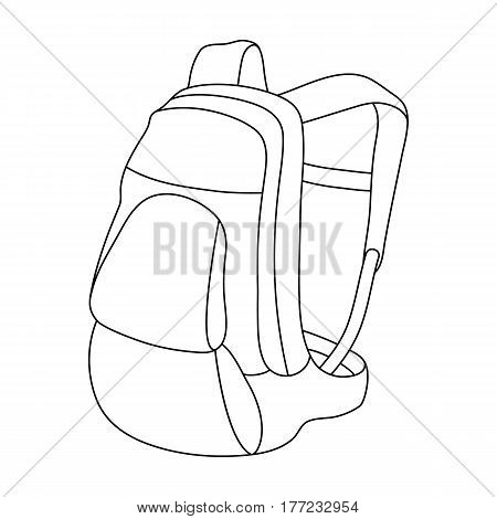 A portfolio of bicycles for carrying things behind.Cyclist outfit single icon in outline style vector symbol stock web illustration.