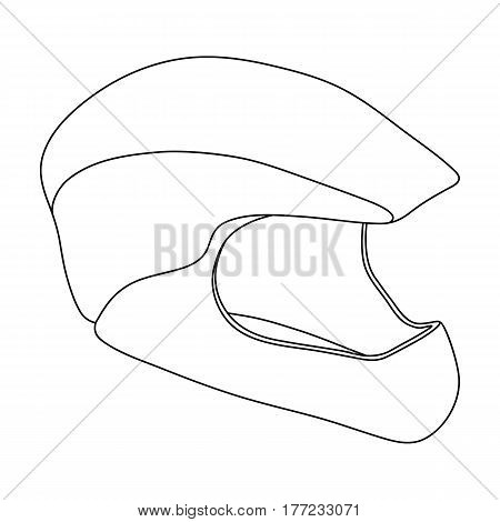 Protective helmet for cyclists. Protection for the head athletes.Cyclist outfit single icon in outline style vector symbol stock web illustration.