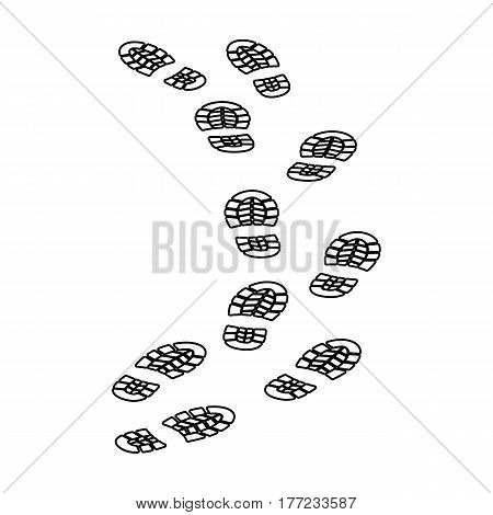 Steps of the criminal. The criminal escaped from prison.Prison single icon in outline style vector symbol stock web illustration.