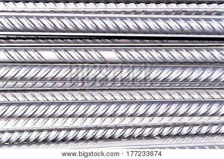 Steel rod pattern texture as a background