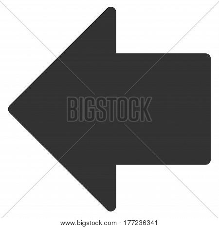 Arrow Left vector icon. Flat gray symbol. Pictogram is isolated on a white background. Designed for web and software interfaces.