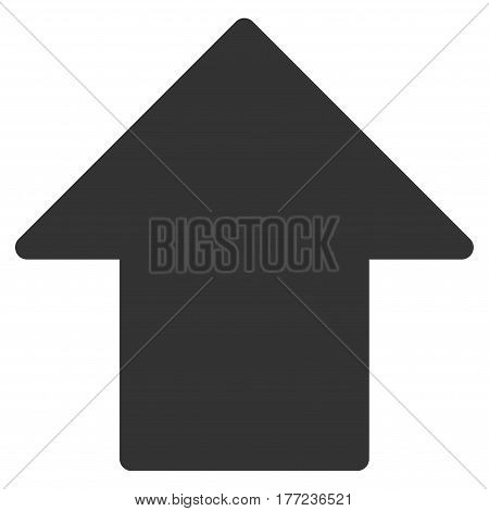 Arrow Up vector icon. Flat gray symbol. Pictogram is isolated on a white background. Designed for web and software interfaces.