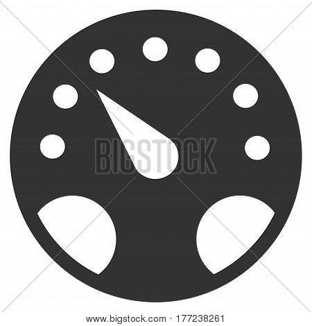 Gauge vector icon. Flat gray symbol. Pictogram is isolated on a white background. Designed for web and software interfaces.