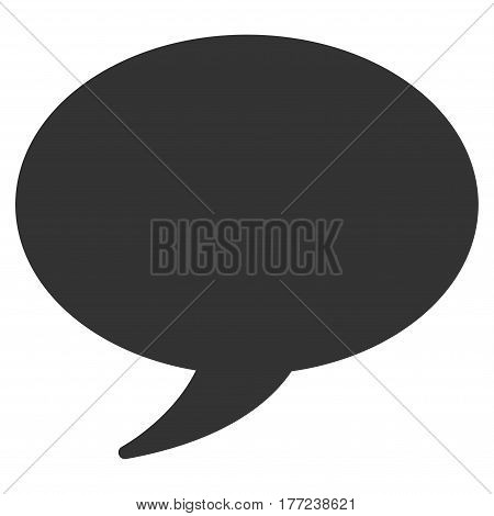 Message Balloon vector icon. Flat gray symbol. Pictogram is isolated on a white background. Designed for web and software interfaces.