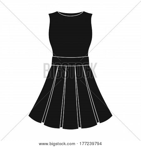 Beautiful light pink summer dress without sleeves. Clothing for a hike to the beach.Women clothing single icon in black style vector symbol stock web illustration.