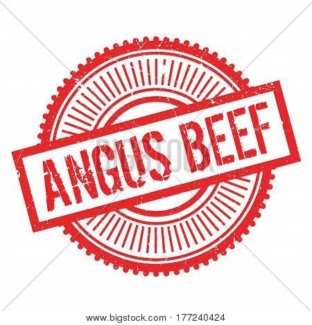 Angus beef stamp. Grunge design with dust scratches. Effects can be easily removed for a clean, crisp look. Color is easily changed.