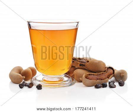 Tamarind Juice With Tamarind Pods