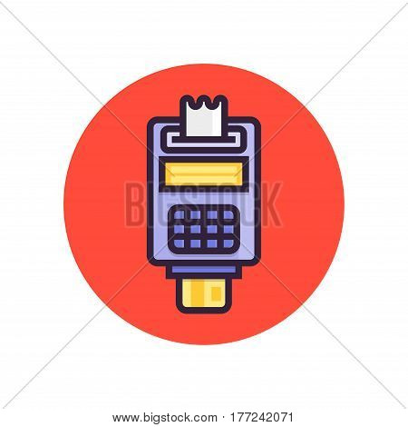 Pos terminal. Point of sale concept payment by credit card