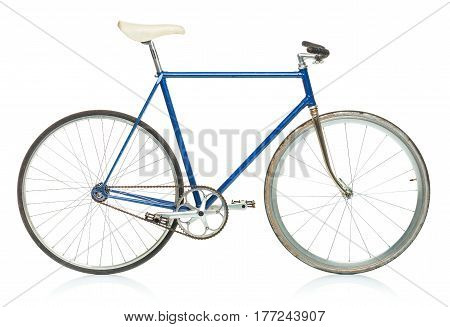 Stylish hipster bicycle isolated on white background