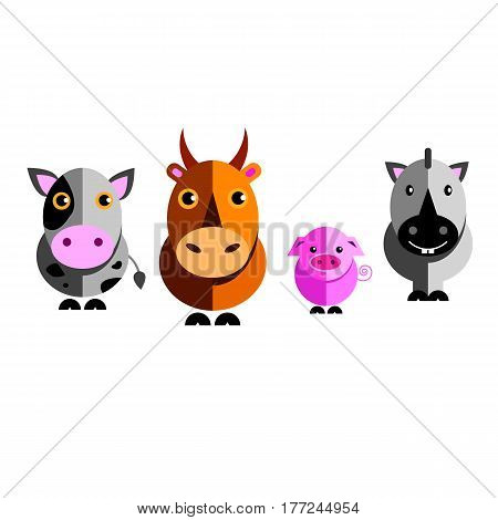 zebra animal illustration funny vector character wild cute pig