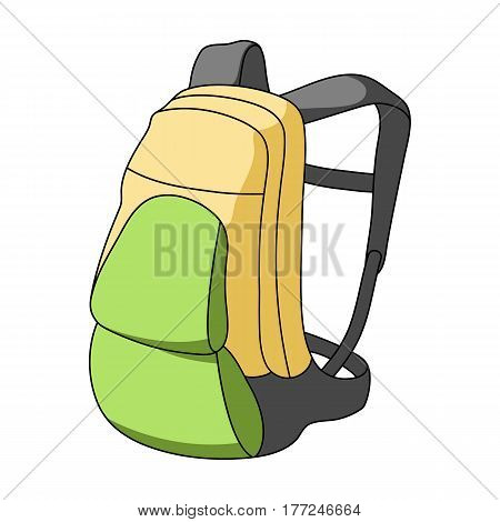 A portfolio of bicycles for carrying things behind.Cyclist outfit single icon in cartoon style vector symbol stock web illustration.