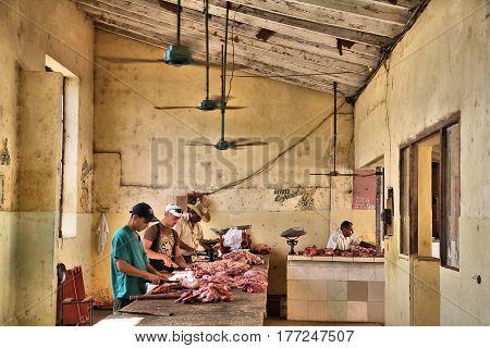 Unhygienic Meat Shop