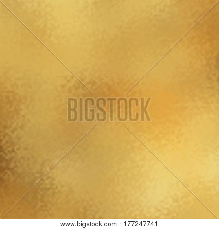Abstract vector gold metal background, golden metallic texture