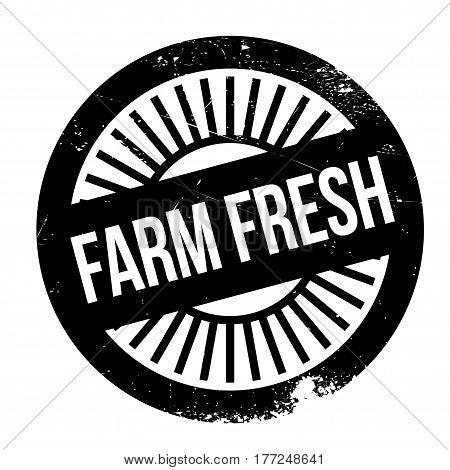 Farm fresh stamp. Grunge design with dust scratches. Effects can be easily removed for a clean, crisp look. Color is easily changed.