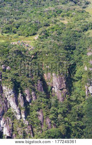 Tourists Fortaleza Canyon