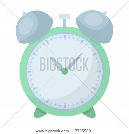 Alarm clock for early Wake up to school. Watch so as not to be late for school .School And Education single icon in cartoon style vector symbol stock web illustration.