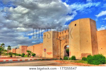 Bab Laarissa or Bab Er-Raha, one of gates of Marrakesh in Morocco