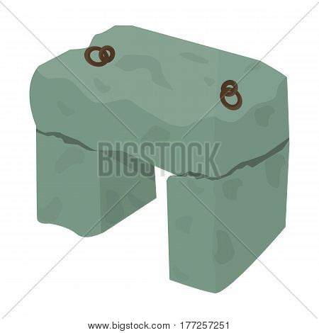 The stone seat.Ancient chair ancient Scots. Scotland country symbol .Scotland single icon in cartoon style vector symbol stock web illustration.