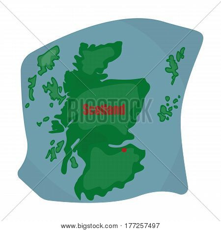 Scotland the map.Scotland is a Country on the world map.Scotland single icon in cartoon style vector symbol stock web illustration.