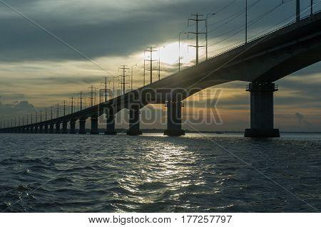 beautiful view of longest bridge in bangladesh