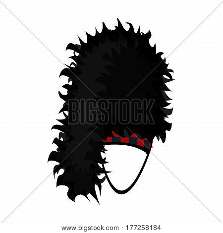 Mask with hair for the Scot.The Scottish national symbol.Scotland single icon in cartoon style vector symbol stock web illustration.
