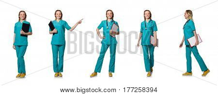 Young doctor isolated on the white