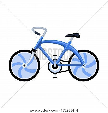 A sports bike for a quick ride down the road. Bicycle ecological economical transport.Transport single icon in cartoon style vector symbol stock web illustration.