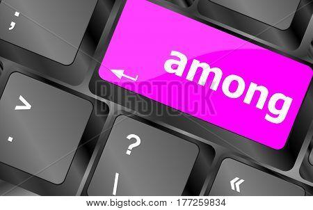 Among Button On Modern Computer Keyboard Key