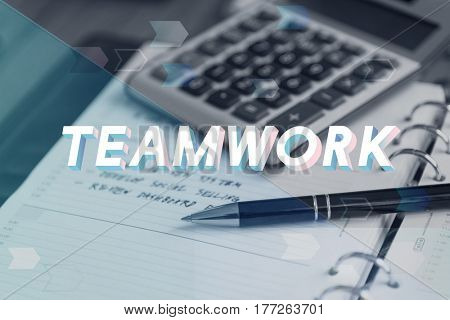 Teamwork Agreement Unity Togetherness Word