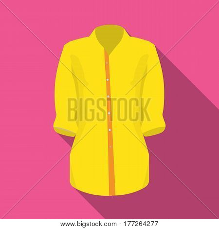 Stylish orange shirt for women. Women dressed in ceremonial clothes.  Woman clothes single icon in flat style vector symbol stock web illustration.
