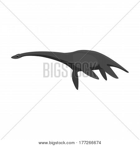 Blue Loch ness monster.The monster of lake Loch ness in Scotland.Scotland single icon in monochrome style vector symbol stock web illustration.