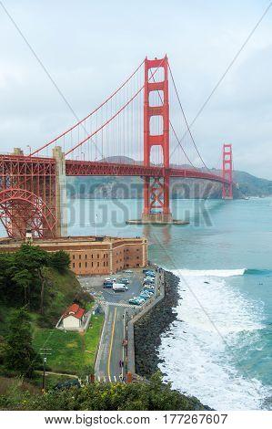San Francisco - California Golden Gate Bridge California Famous Place International Landmark
