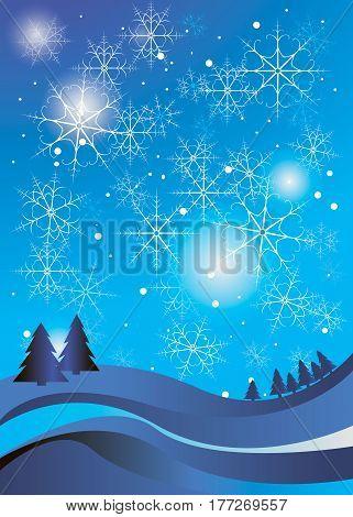 winter celebration christmas illustration vector silhouette tree