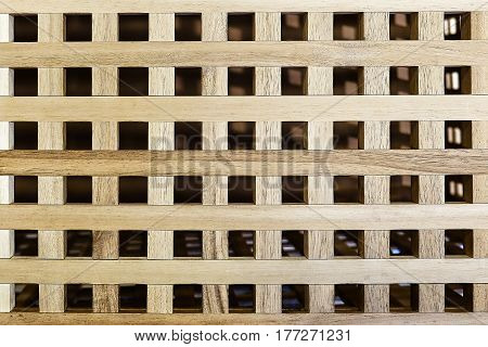 beautiful background wooden lattice cross between a strip