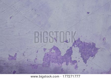 Purple Painted Concrete Wall Can Use For Background