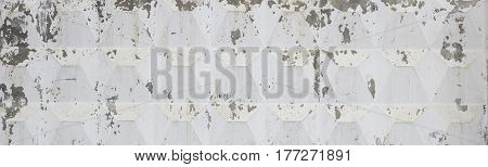 White Concrete Wall Can Use For Background