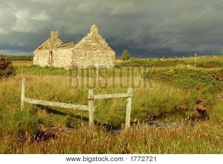 Ruined House On Moorland