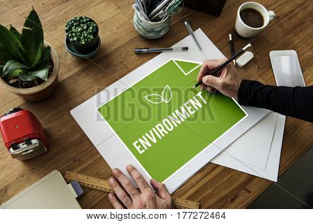 Save the Planet Sustainable Energy Saving Ecology Environment