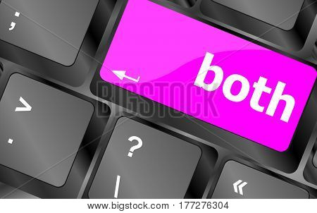 Border Button On Computer Pc Keyboard Key
